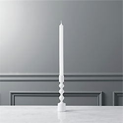 halo matte white taper candle holder