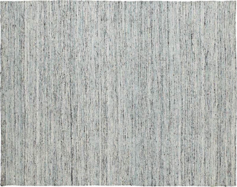 handwoven recycled sari grey rug 8'x10'