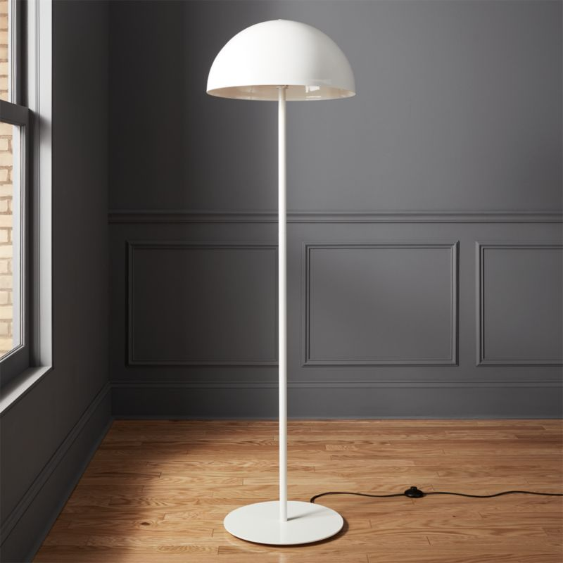 Hanna white floor lamp reviews cb2 for Homebase chandelier floor lamp