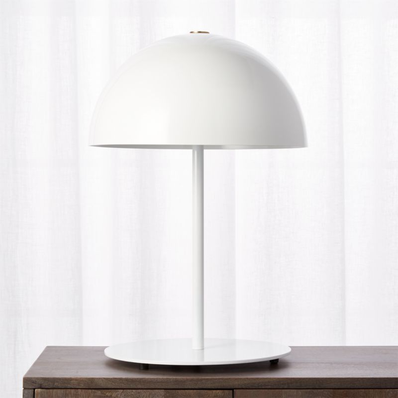 Modern table lamps cb2 hanna white table lamp aloadofball Choice Image
