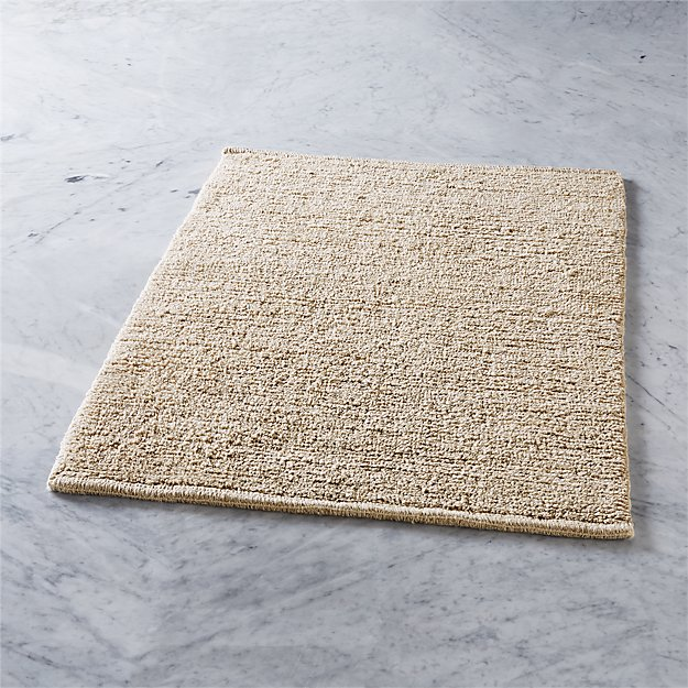 hannah reversible linen bath mat