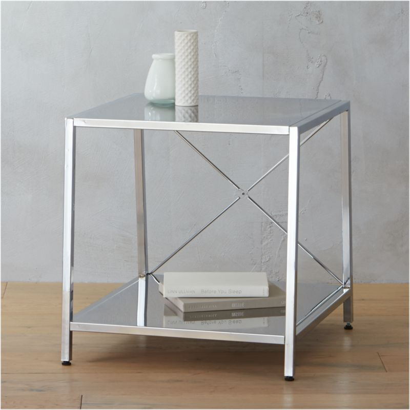 Harvey Chrome Nightstand + Reviews | CB2