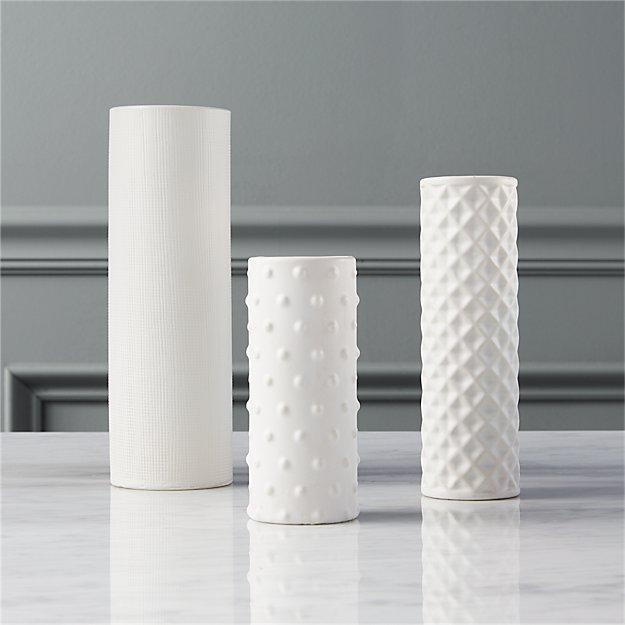 3 Piece Hat Trick Vase Set Cb2