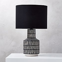 Hatch Black And White Table Lamp
