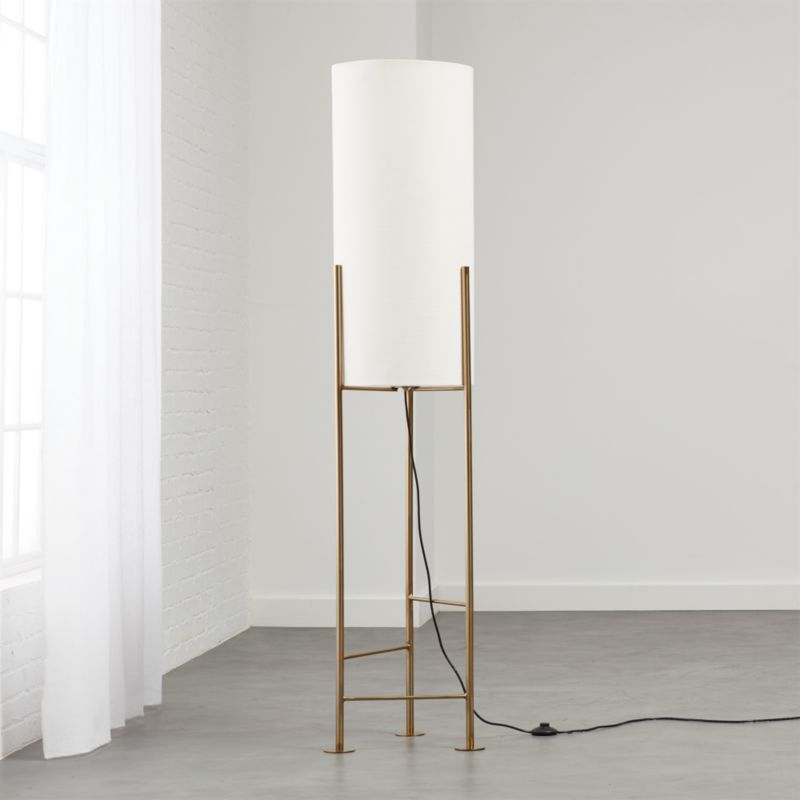 Haus White Floor Lamp - Modern Floor Lamps CB2