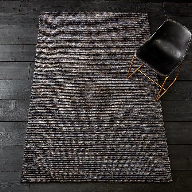 hea blue abaca rope rug