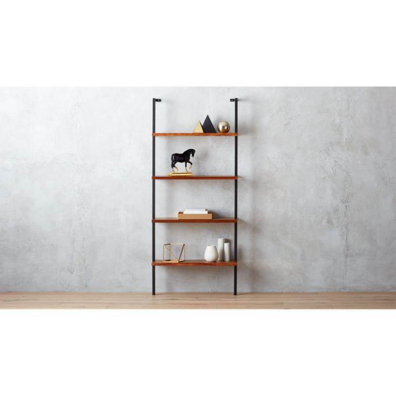 helix acacia wallmounted bookcase CB2