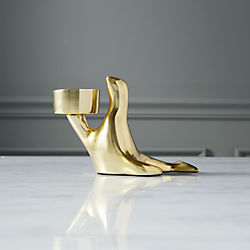 henry seal brass tea light candle holder