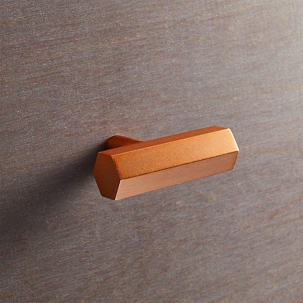Hex Copper Bar Knob
