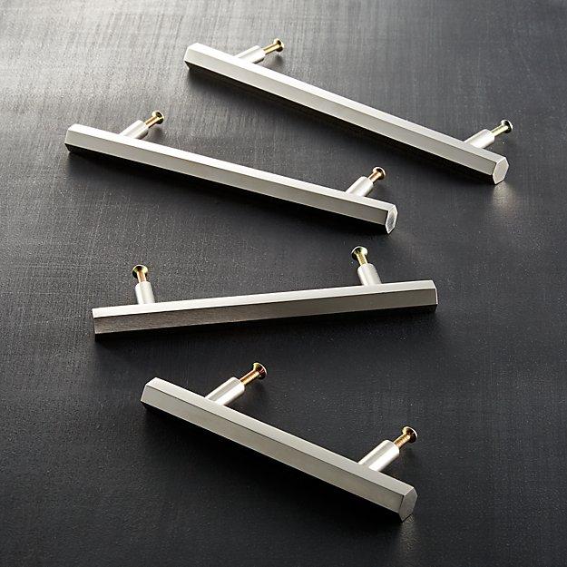 hex silver handles