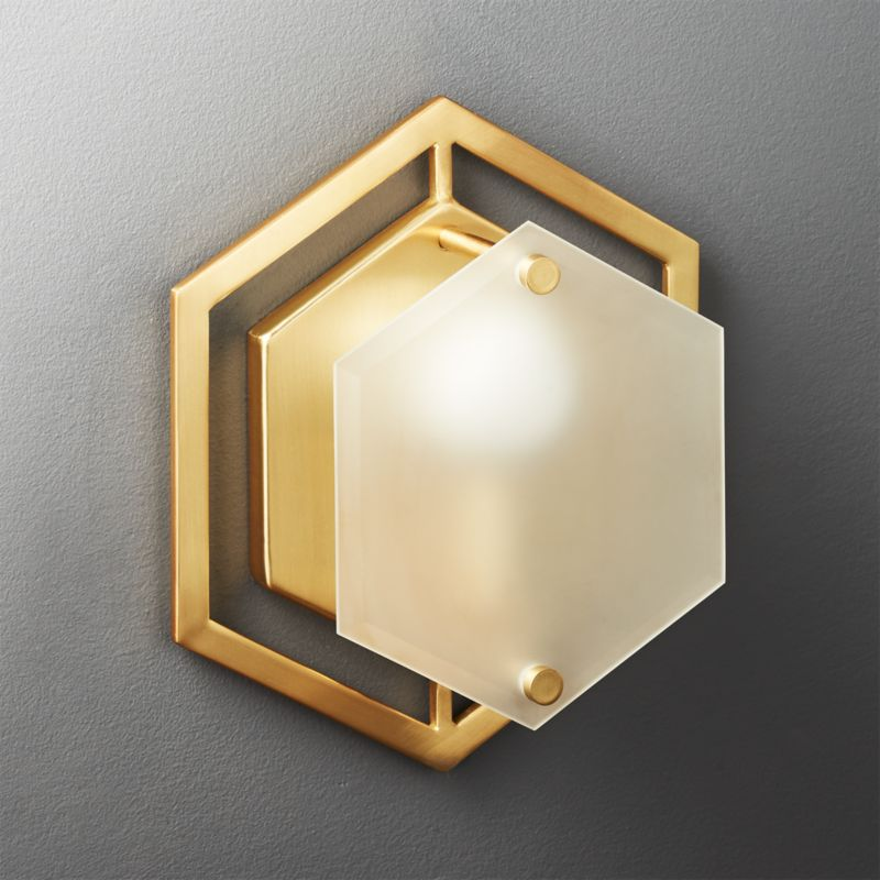Hex Geometric Wall Sconce CB2