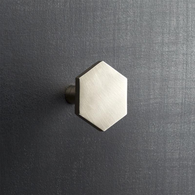 hex brushed nickel knob Reviews CB2