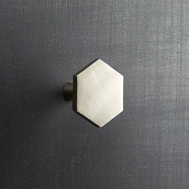 hex brushed nickel knob