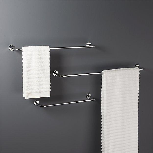 Hex Chrome Towel Bars