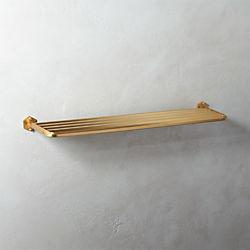 Hex Brass Towel Rack