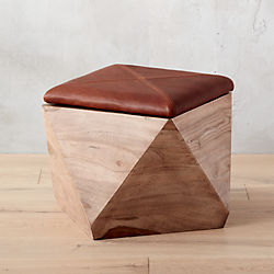 hexagon storage ottoman