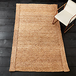 hida braided border abaca rug