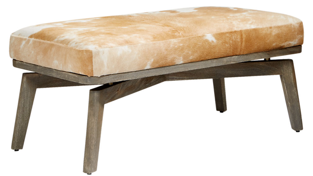 royalton cowhide bench