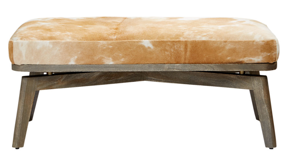royalton cowhide bench