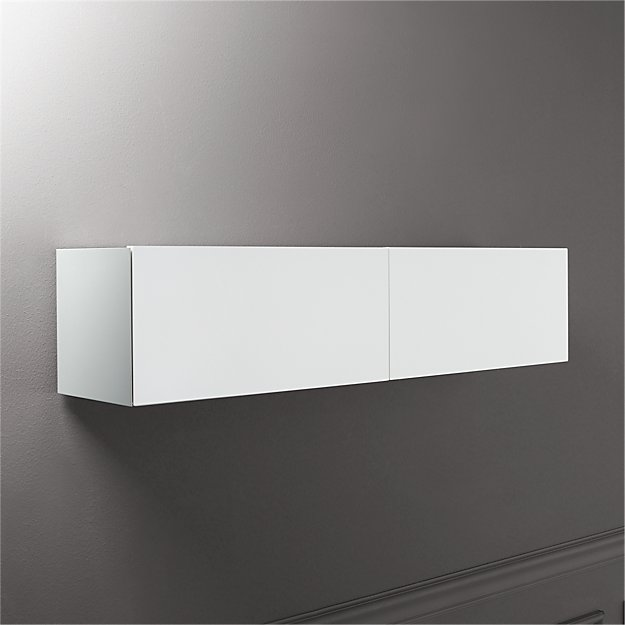 Hide N Seek White Storage Shelf Reviews Cb2