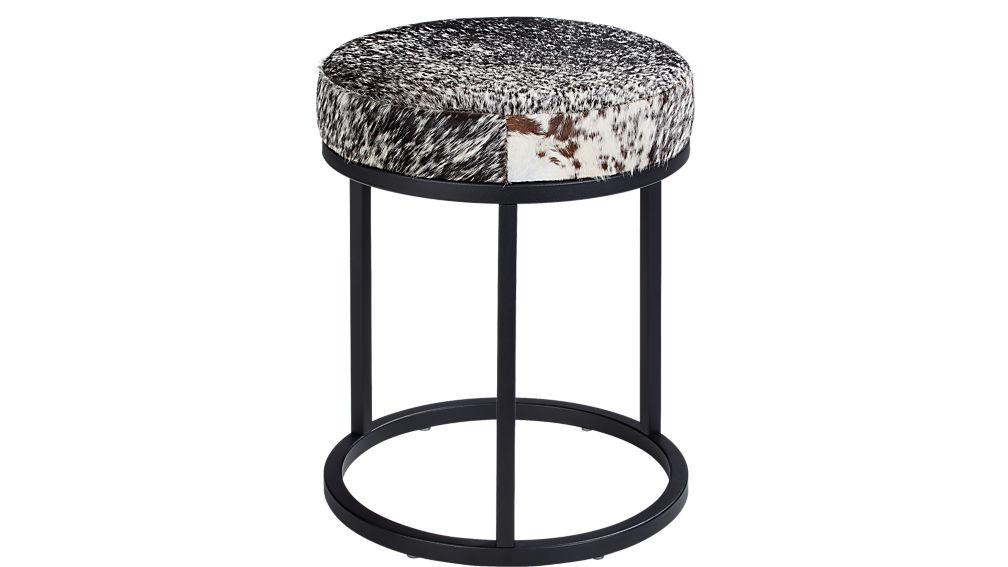 hide black stool