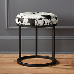 hide black stool