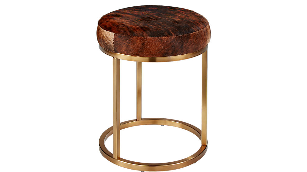 hide brass stool