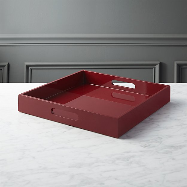 hi-gloss square brick tray