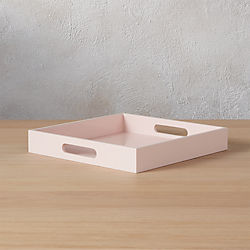 hi-gloss small square pink tray