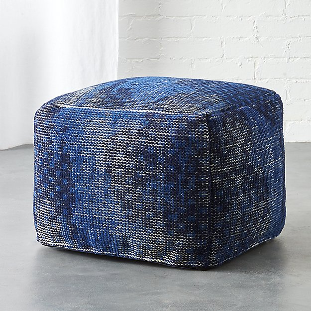 The Hill-Side disintegrated floral print pouf