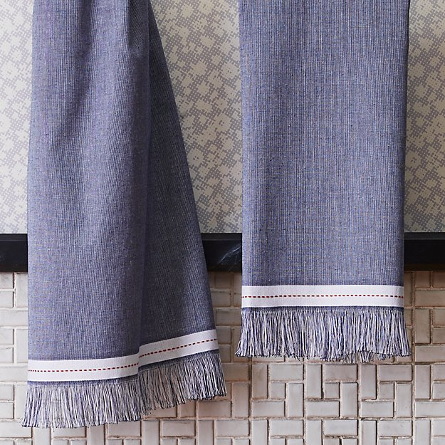 The Hill-Side selvedge navy hand towel