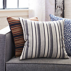 "20"" The Hill-Side workwear blanket stripe pillow"