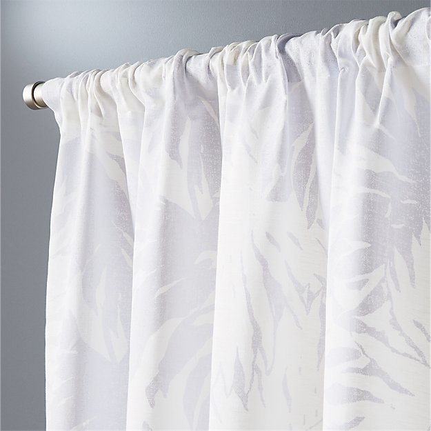 "The Hill-Side palm leaves curtain panel 48""x84"""