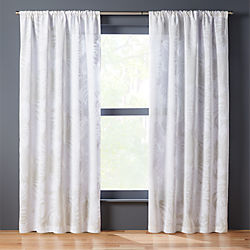 The Hill-Side palm leaves curtain panel
