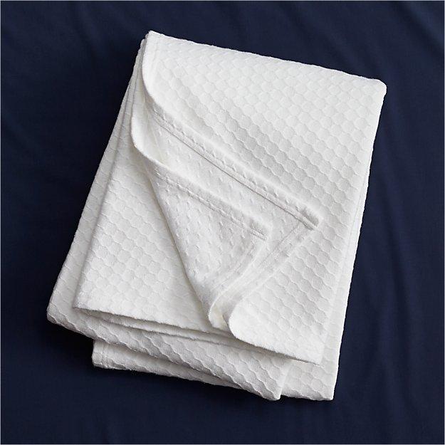 Hive White Blanket Cb2