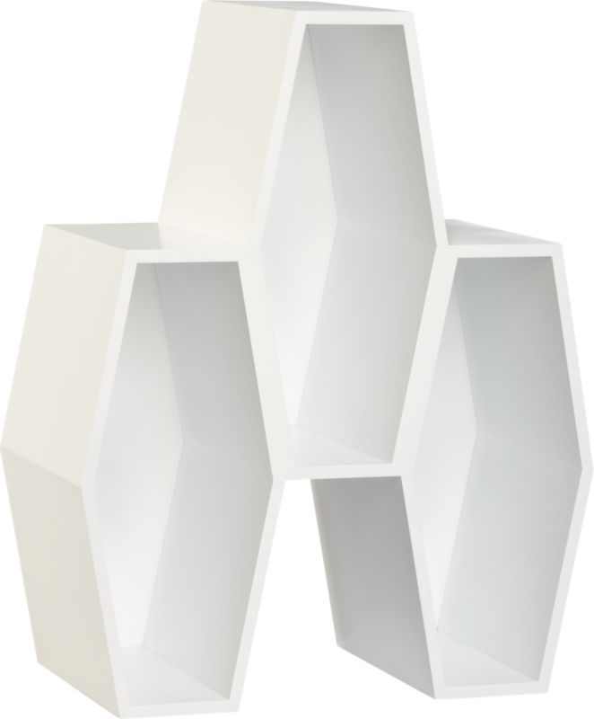 hive white storage unit
