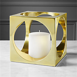 hole in the wall pillar candle holder
