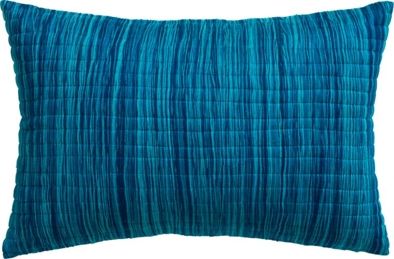 "hombre blue 18""x12"" pillow with down-alternative insert"