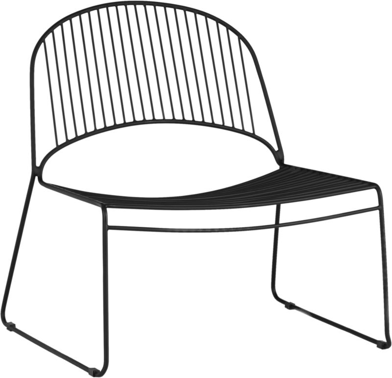 humpback matte black lounge chair