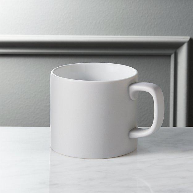 hush matte grey coffee mug