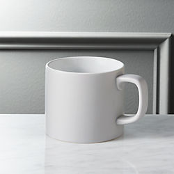 hush matte grey coffee mug