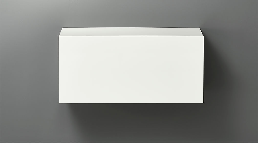 "hyde white 30"" small wall mounted cabinet 