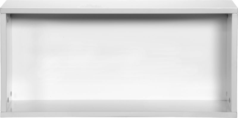 """hyde white 30"""" open wall mounted cabinet"""