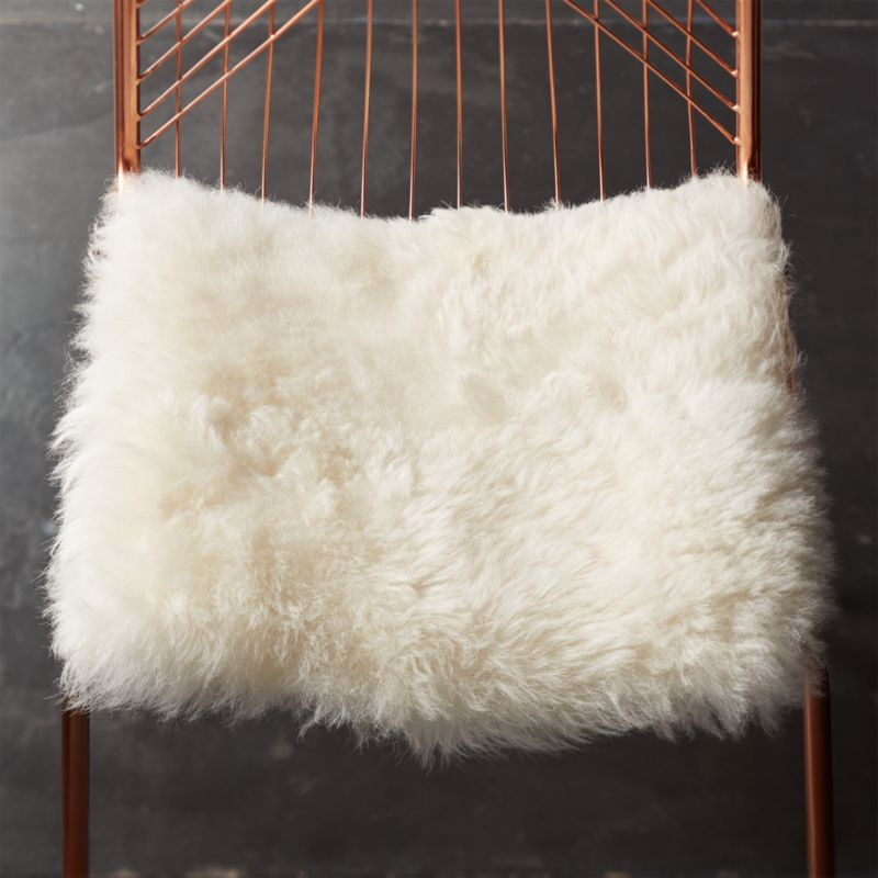 Icelandic Sheepskin Chair Cover Reviews Cb2
