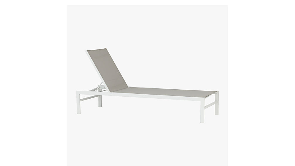 ... idle grey outdoor chaise lounge ...  sc 1 st  CB2 : white chaise lounge chair - Sectionals, Sofas & Couches