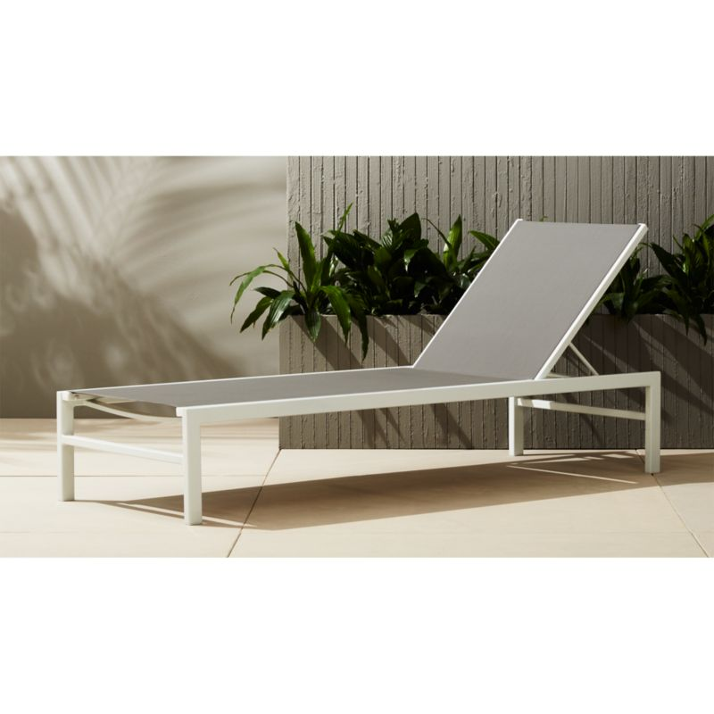 idle grey outdoor chaise lounge Reviews CB2