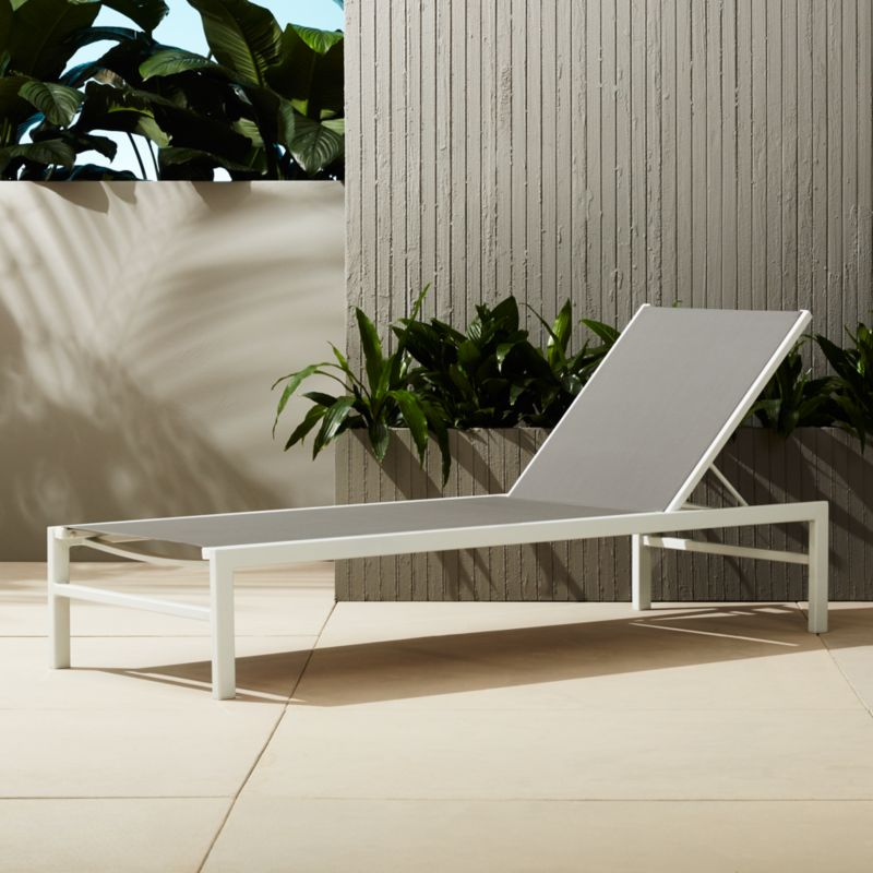 Idle Grey Outdoor Chaise Lounge | CB2