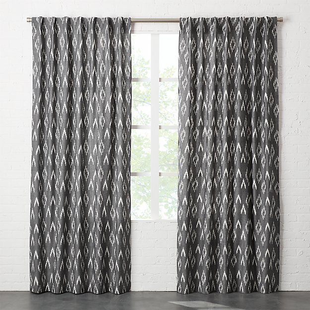 ikat II curtain panel