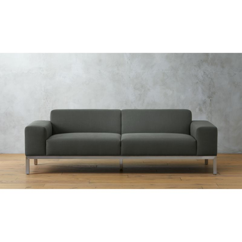 index dark grey sofa CB2