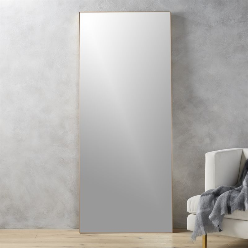 Infinity 24 thin frame wall mirror reviews cb2 for Thin wall mirror